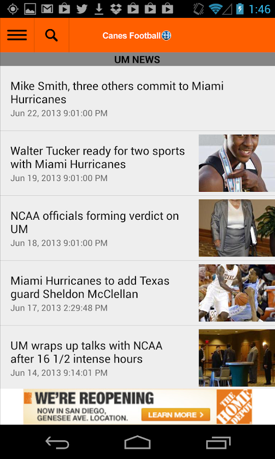 Canes Football - screenshot