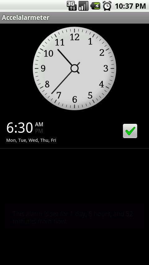 Shake 'n' Not Stirred Alarm - screenshot