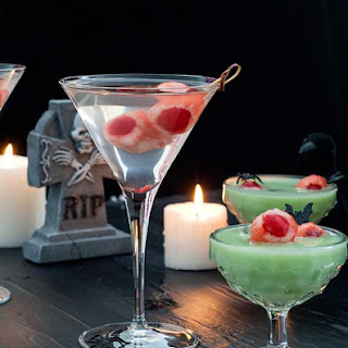 Lychee Eyeballs and Halloween Cocktails.