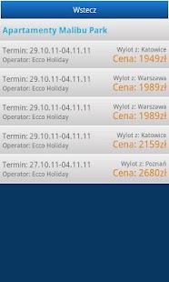 Wyszukiwarka turystyczna- screenshot thumbnail