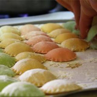 Spinach and Ricotta Coloured Ravioli