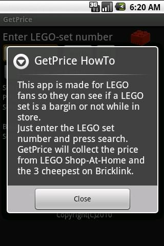 GetPrice- screenshot