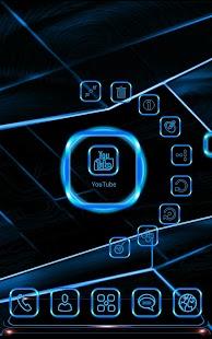 玩個人化App|NeonBlue 2 Next Launcher Theme免費|APP試玩