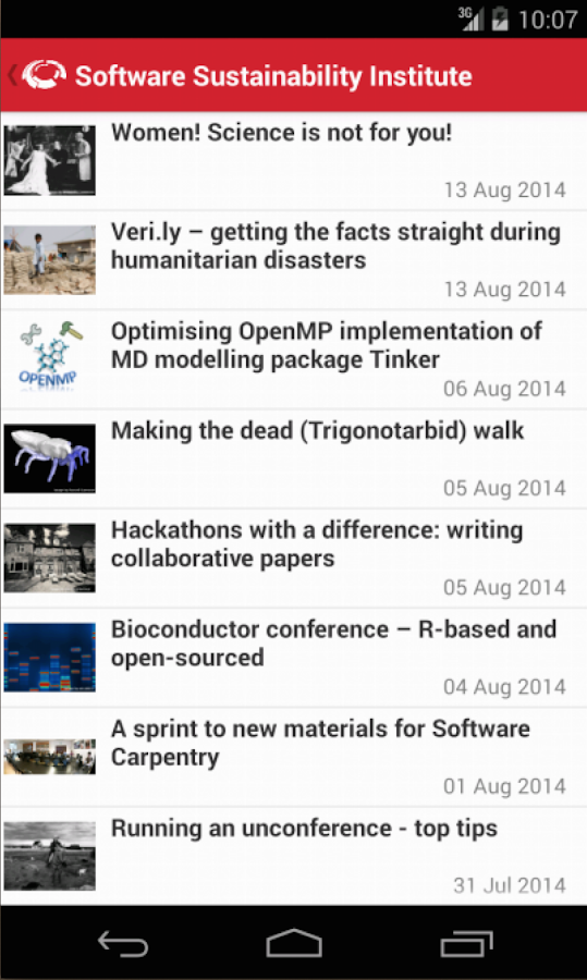 The SSI App- screenshot