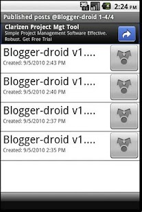 Blogger-droid - screenshot thumbnail