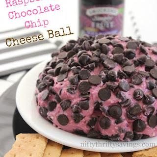 Black Raspberry Chocolate Chip Cheese Ball