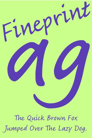 玩個人化App|Fineprint FlipFont免費|APP試玩