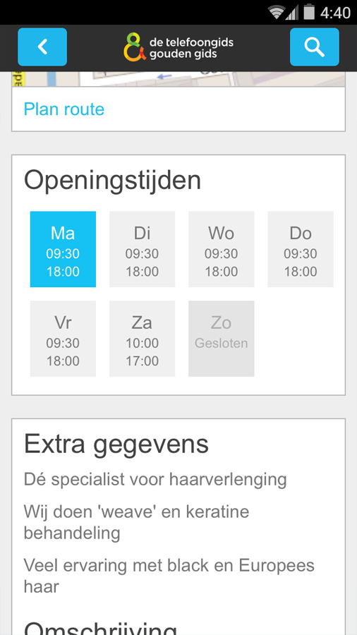 De Telefoongids - Zoek & Vind- screenshot