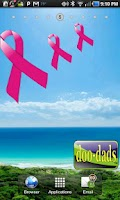 Screenshot of Breast Cancer Ribbon doo-dad