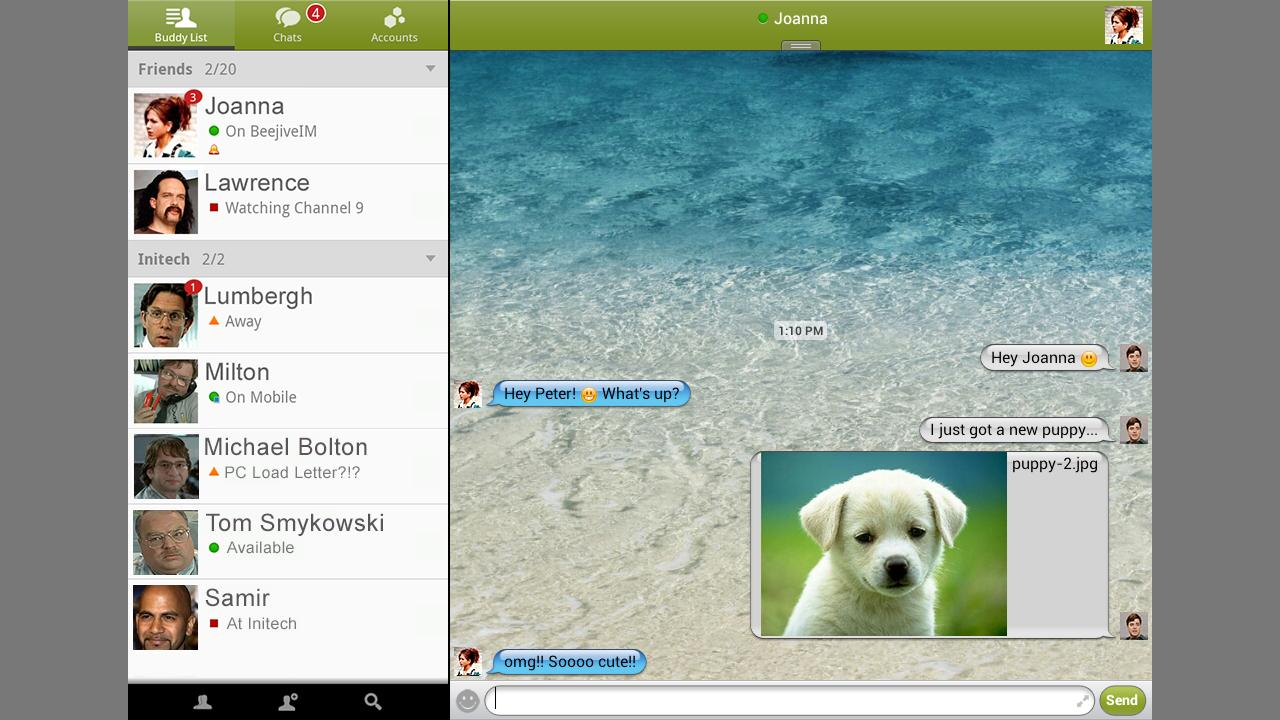 BeejiveIM for Google Talk Free - screenshot
