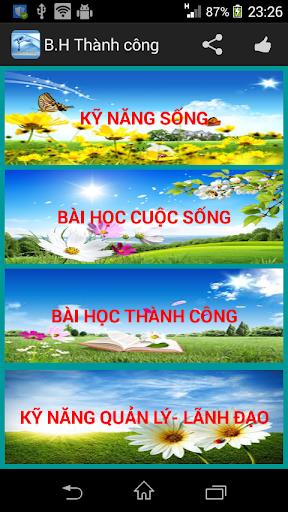 BAI HOC THANH CONG: KỸ NĂNG