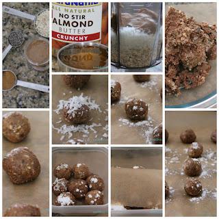 Almond Coconut Protein Bites.