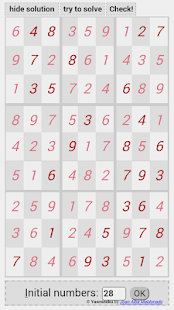 Yasminoku sudoku with solver- screenshot thumbnail