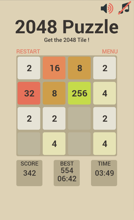 Maths Puzzles 2048- screenshot