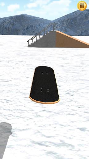 抓住你的主板和滑雪板像手指滑雪3D!