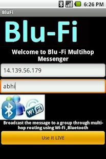 BLU-FI Messenger screenshot