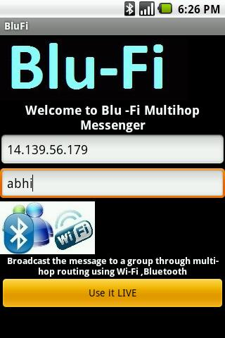 BLU-FI Messenger- screenshot