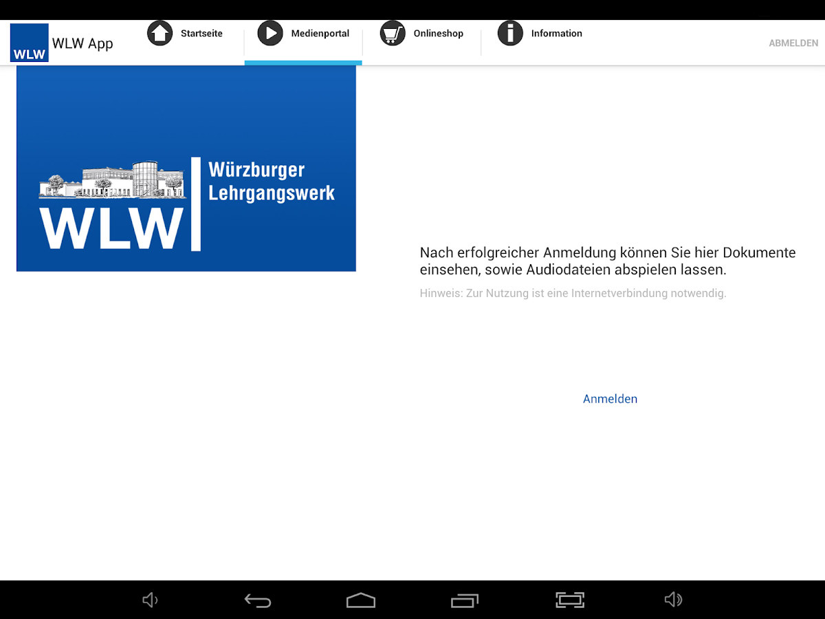 WLW App – Screenshot