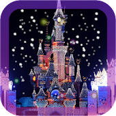Fairy tale castle wallpaper