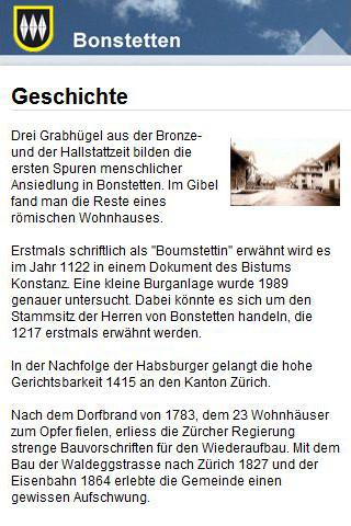 Cityguide Bonstetten - screenshot