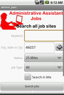 Administrative Assistant Jobs - screenshot thumbnail