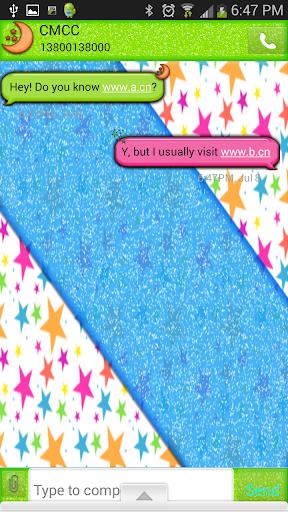 GO SMS THEME StarsGalore