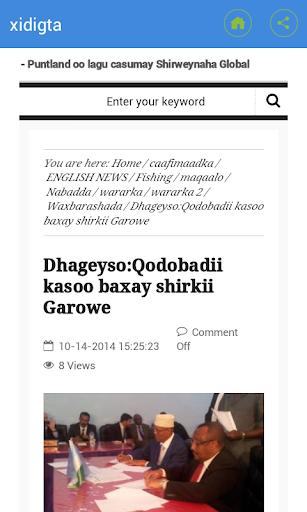 Somali News Xidigta
