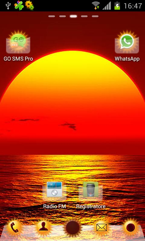 Sun Theme HD GO/NOVA Launcher - screenshot