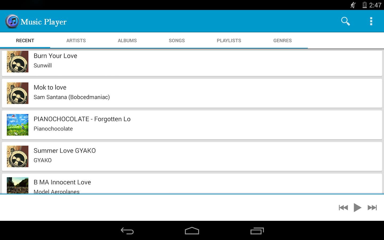 Music Player - screenshot