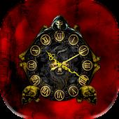 Skull Gothic Clock