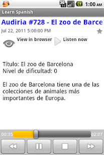 Spanish Podcasts - screenshot thumbnail