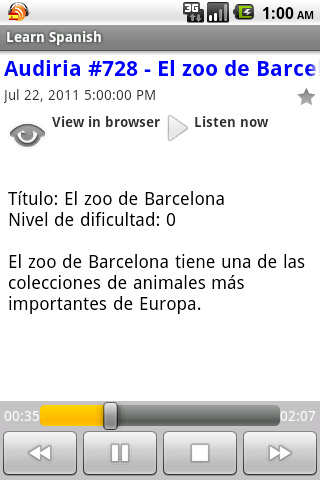 Spanish Podcasts - screenshot
