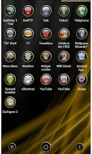 Next Launcher Theme Gold - screenshot thumbnail