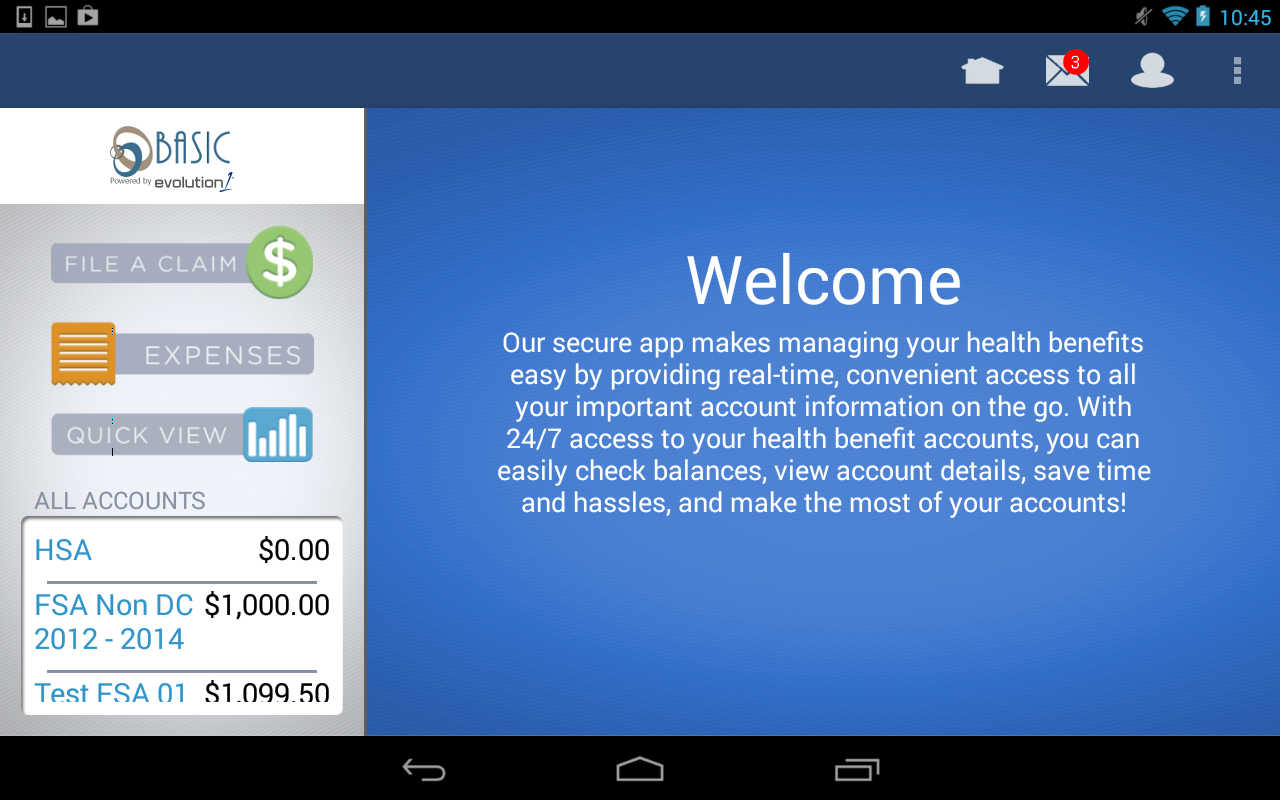 Benefits by BASIC - screenshot