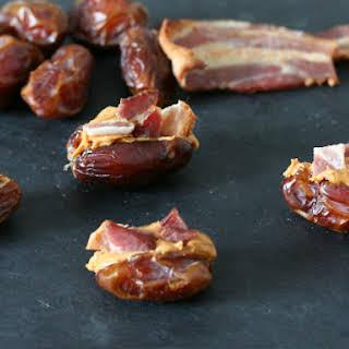 Peanut Butter Bacon Stuffed Dates.