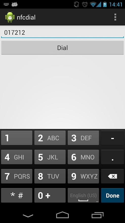 nfcdial- screenshot