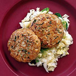 Mu Shu Chicken Patties with Seared Napa Cabbage.