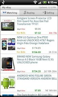 Screenshot of Droid Auctions for eBay AdFree