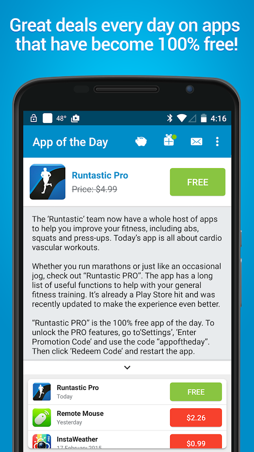 App of the Day - 100% Free- screenshot