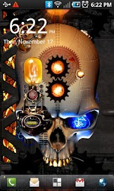 Steampunk Skull Free Wallpaper Screenshot 1