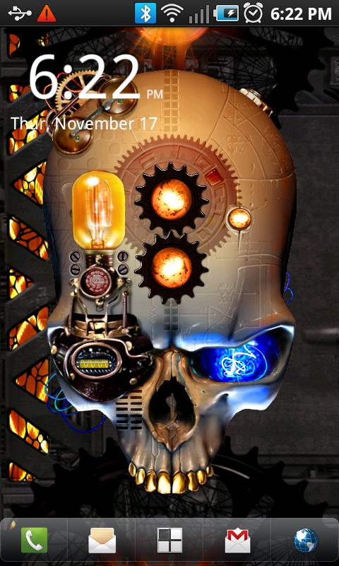 Steampunk Skull Free Wallpaper - screenshot