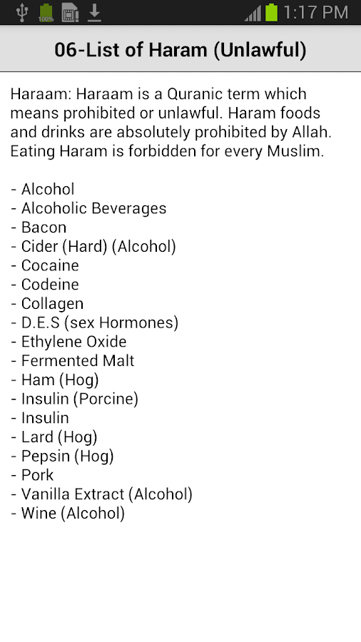 Halal Food Guide- screenshot