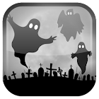 Halloween fantasma fondo icon