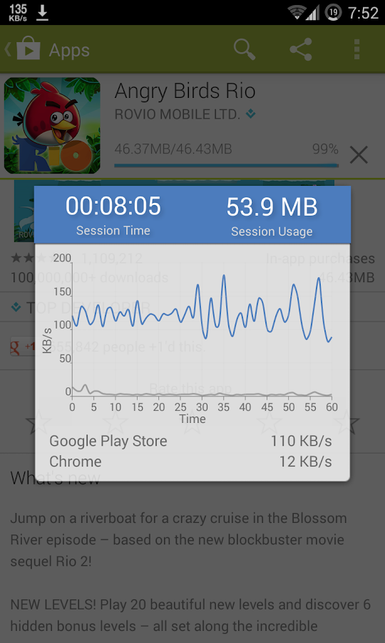Internet Speed Meter - screenshot