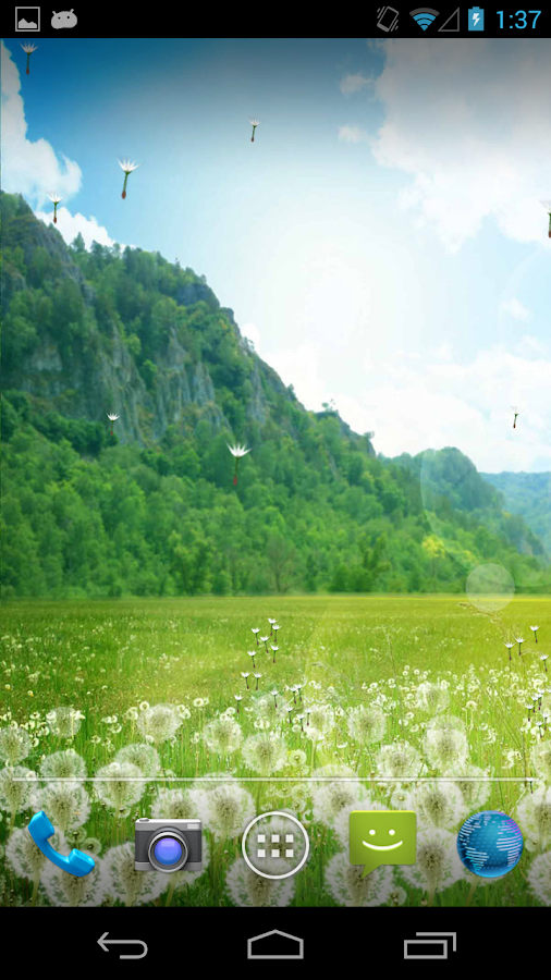 Dandelion Field LWP - screenshot