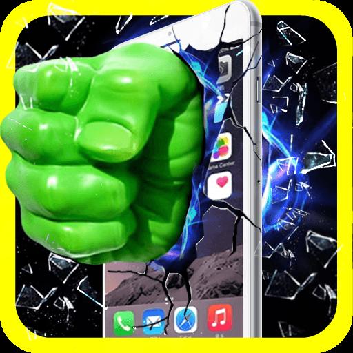 綠拳頭砸碎屏幕 - Broken Screen 娛樂 LOGO-玩APPs
