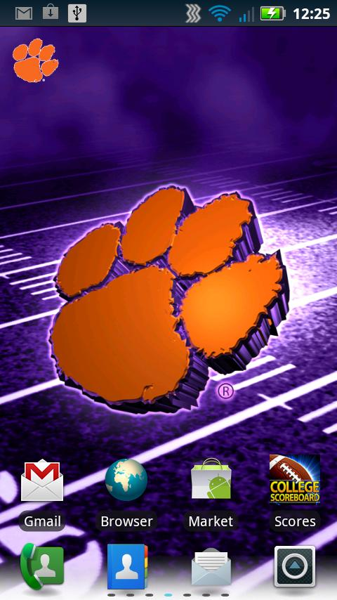 Clemson Revolving Wallpaper - screenshot