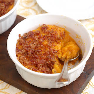 Bacon and Brown Sugar-Topped Sweet Potato Casserole.