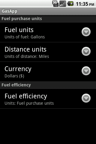 GasApp Lite - screenshot