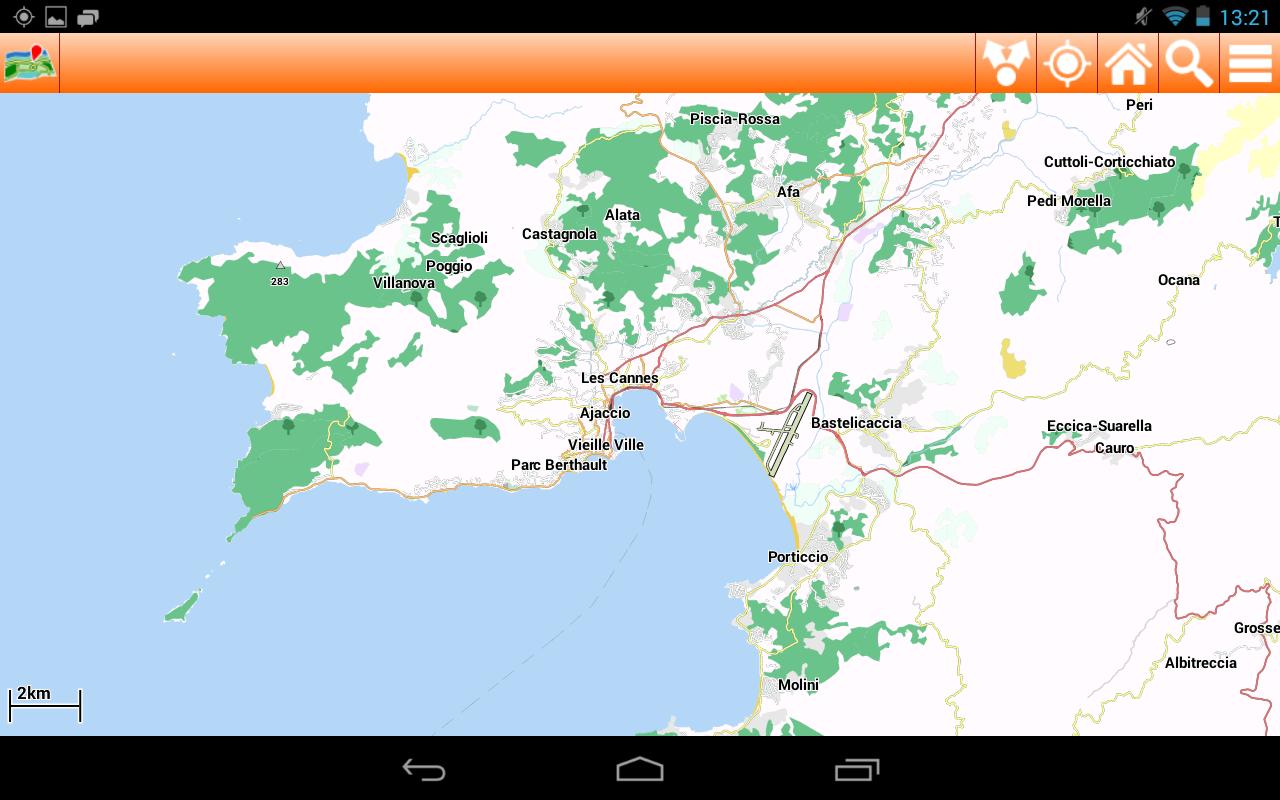 Corsica Offline mappa Map - screenshot